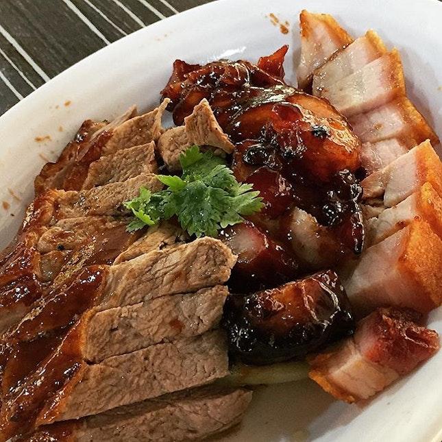 3 Combination Roast Meat [Roast Duck + Char Siew + Roast Pork] Platter @ Jin Shi Roasted Delight 金师烧腊, Blk 308 Clementi Avenue 4.