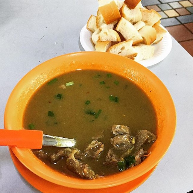 Kambing (Mutton) Soup @ A. Rashid Khan, Blk 503 West Coast Drive, Ayer Rajah Food Centre #01-58.