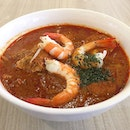 Nonya Laksa & Ondeh Ondeh [6pcs] @ HarriAnns Nonya Table, 230 Victoria Street, Bugis Junction Towers #01-01A.