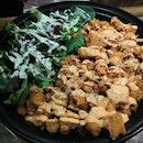 Popcorn Chicken with salad($23++)
