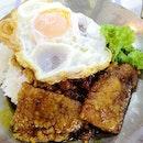 Pork Rib King Rice($4. 50) add egg($0.50)