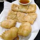 Crispy Golden Shrimp Rolls & Deep Fried Shrimp Dumplings