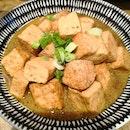 Braised Beancurd in Tonkotsu Broth(Warm)($3.50)