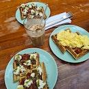 Mozzarella + Scrambled Egg Waffle