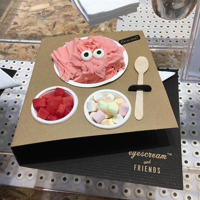 Strawberry shaved gelato.