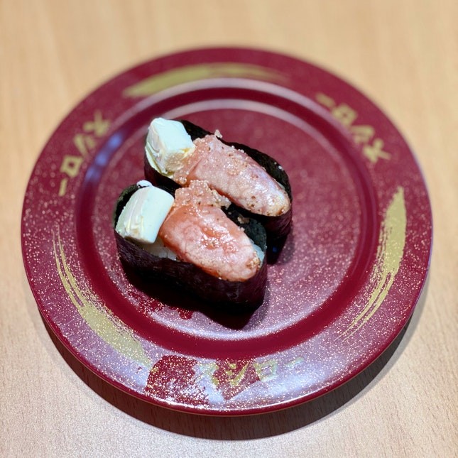 Torched Roe With Cream Cheese $2.20
