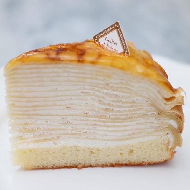 White Zebra Mille Crepe Cake [$4.70]