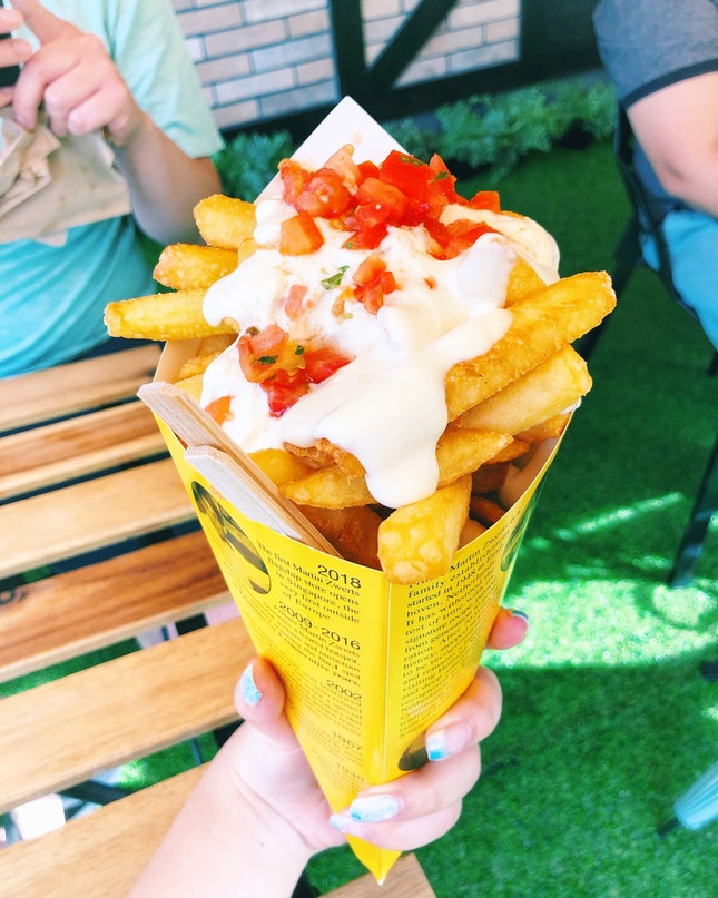 Martin Zwerts Friture Large Fries With Frite Sauce And Tomato And Basil Sauce [$7.50]