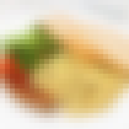 Truffle Scrambled Eggs with British Pork Sausage, Salad and Toast [$14.90]
