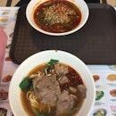 Sour & Spicy Noodles (酸辣粉) & beef noodles soup