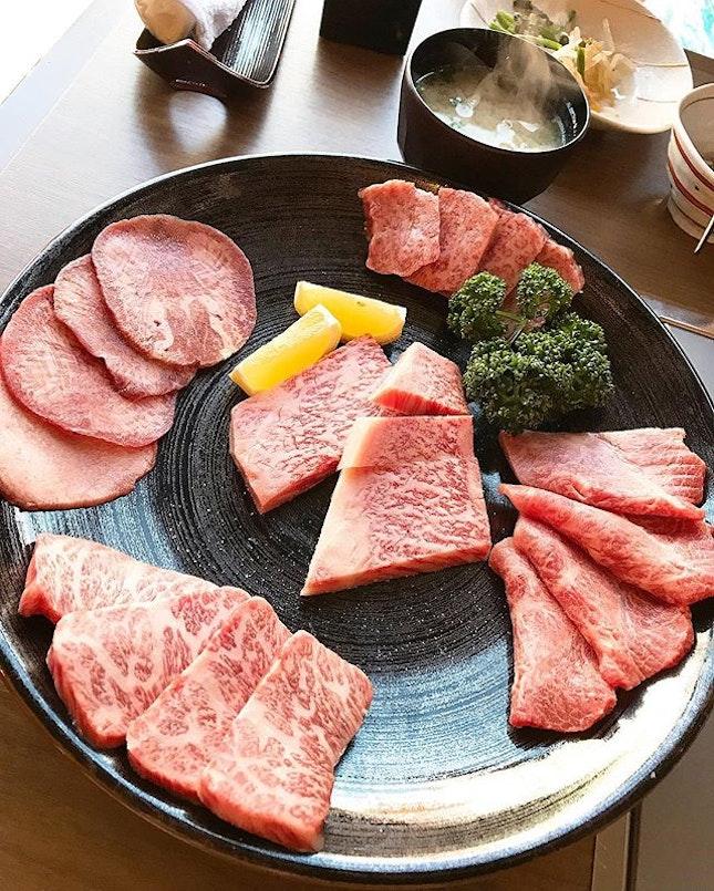 A5 Saga 🥩🥩 feast 🤪 at Hakata Gira Saga Beef Restaurant :: :: Saga beef is esteemed as one of the best Wagyu beef brands in Japan .