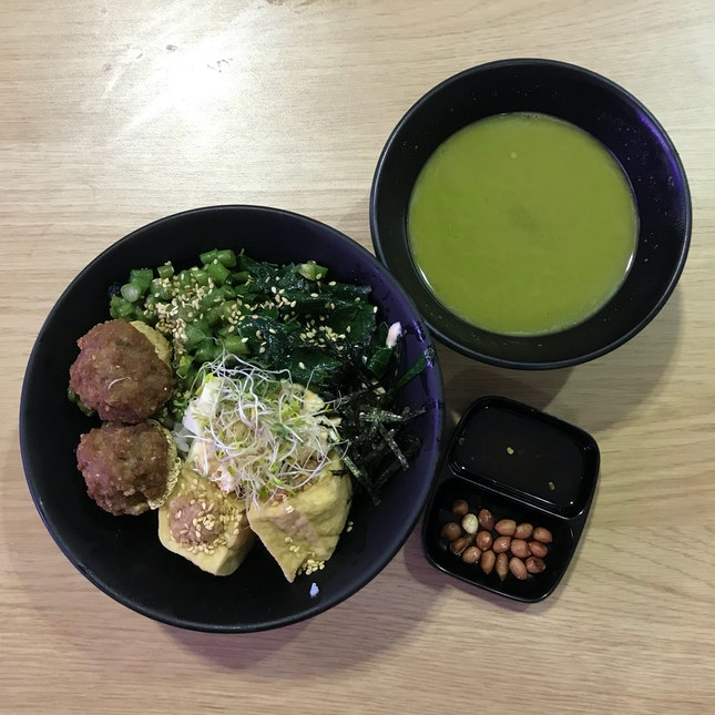 Hakka Thunder Tea Tofu Bowl ($6.80)
