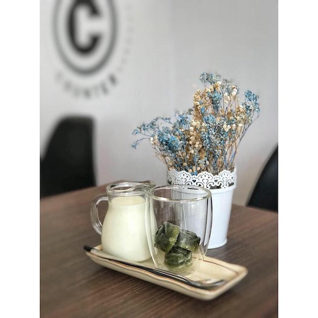 Iced Green Tea Latte ($7)