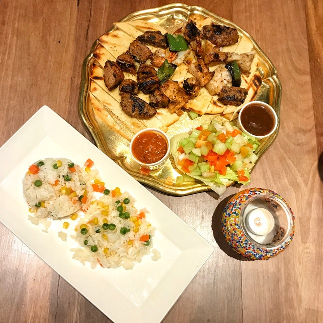 Ottoman Shish Platter ($32++ for two, $49++ for four)