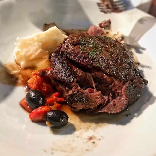 Wagyu Beef Cheek With Roast Peppers ($28++)