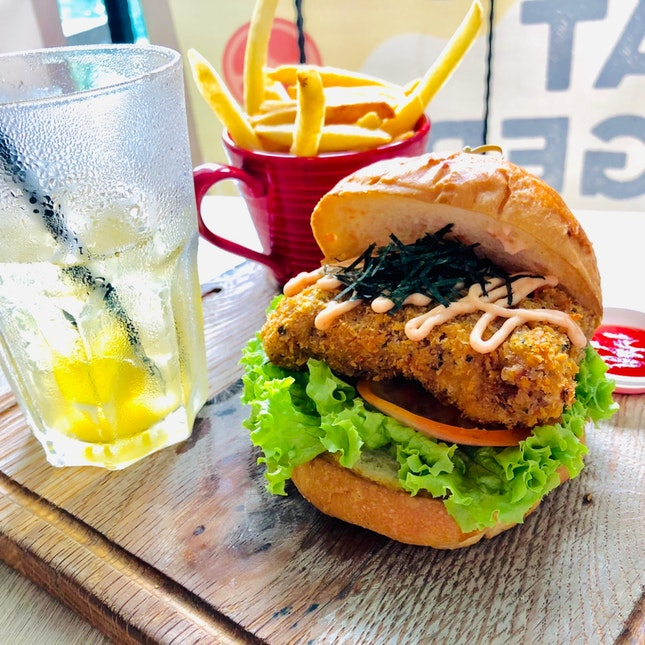 Mentaiko Mille-feuille Katsu Burger Set