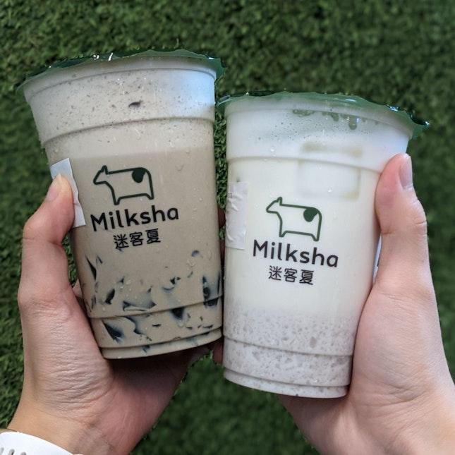 Fresh Taro Milk ($5.60)
