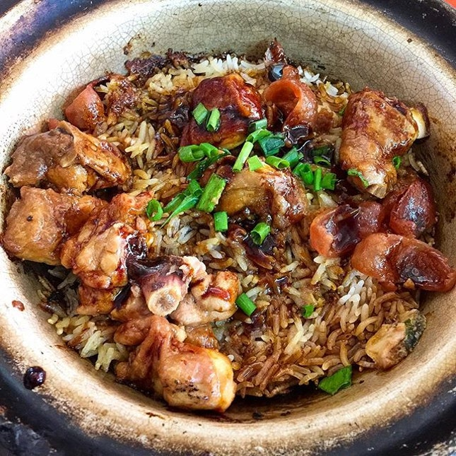 Claypot chicken rice from Holland V is quite a decent lunch at only $5.