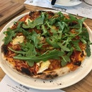 Tomato Sauce, Pulled BBQ Chicken, Cranberry Compote, Camembert & Rocket ($25)