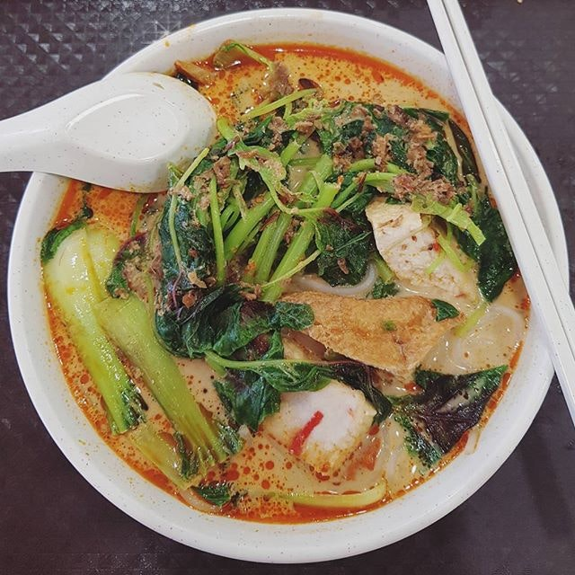 Rainy day comfort food - Laksa yong tau fu ($4)!