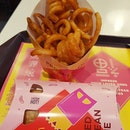 Medium twister fries ($3.50) and Red bean pie ($1.40)!