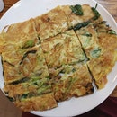 Green onion and seafood pancake - KR 15,000 Won!