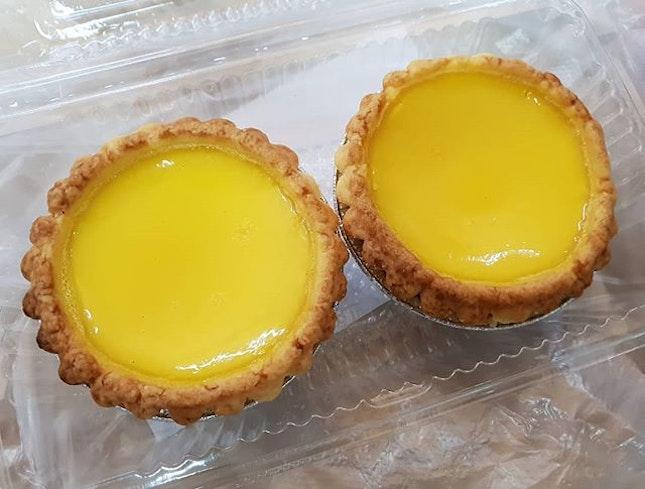 Favourite egg tarts ($1.90+ each) 😋😋 .