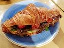 Roast beef croissant ($9) 😋 .