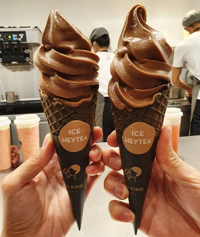 Ovaltine ice cream cone ($4.50 each)!