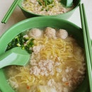 Bak chor mee soup ($4 each)!