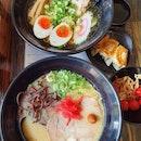 Pure white tonkotsu ramen ($12.90++) & Tokyo ramen lunch set ($16.90++)!