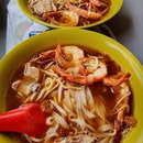 Pork ribs prawn noodles ($5 each)!