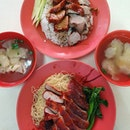 叉烧云吞面 + 烧鸭 & 叉烧 + 烧鸭饭 ($12.50)!