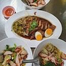 Wanton noodles + pork (3 pax: THB $600)!