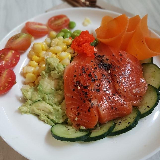 Salmon Sashimi Poke Bowl