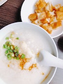 Minced Meat Porridge with Egg, $5