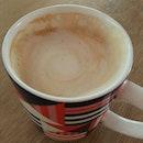 Kevin's artless salted caramel latte.