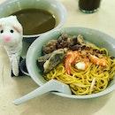 Soon Huat Prawn Mee - ordered pork rib and prawn noodles.