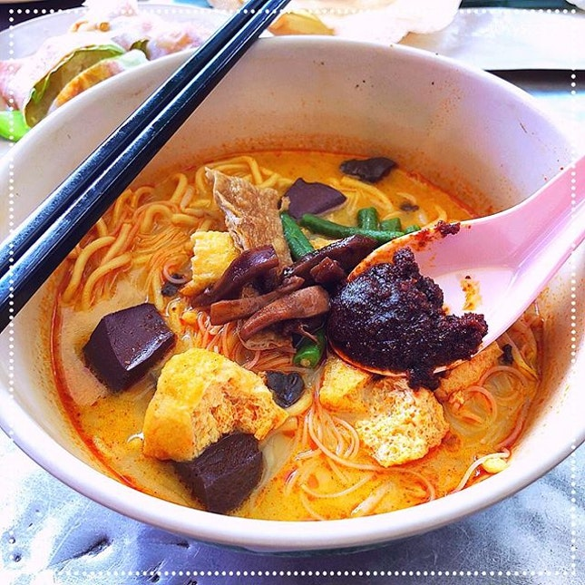 [New Cathay Coffee Shop] White Curry Mee, RM5 / S$1.60.