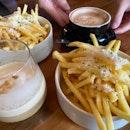 Truffle Fries and coffee