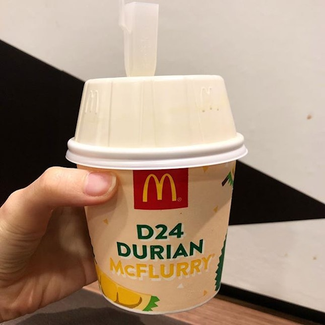 Have you tried @mcdsg 's latest durian mcflurry?