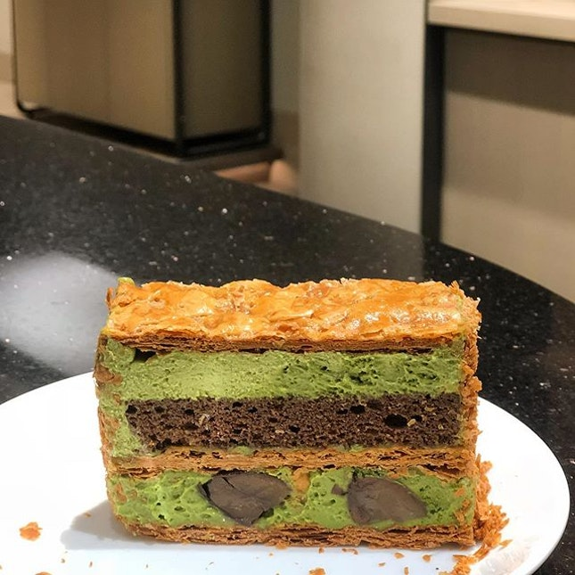 Back from the Philippines and one of the first thing i did was to head over to JW360° at jewel changi to satisfy my matcha cravings 😝  Happy that they had the Matcha Mille Feuille ($9) which was sold out on my previous visit.
