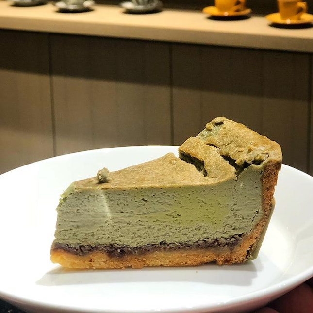 [Matcha Baked Cheese-$6.50]  This didn't fare as well as the mont blanc for me, not really tasting like a cheesecake and also lacking in the matcha flavour profile.
