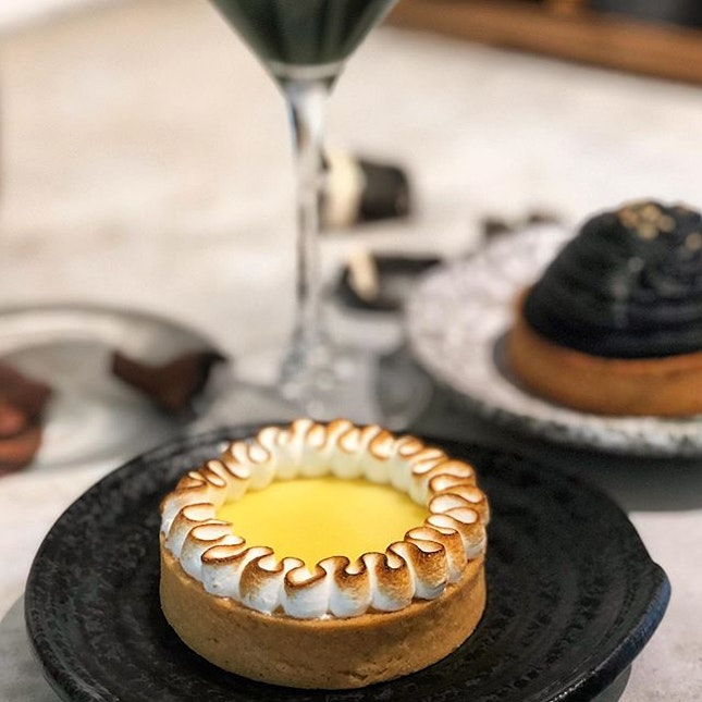 [Lemon Meringue Tart-$7.80]  The perfect dessert for you if you're looking for something thats light and easy to eat yet packs a punch in terms of flavour.