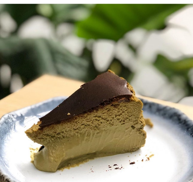 [Hojicha Burnt Cheesecake - $8.50]