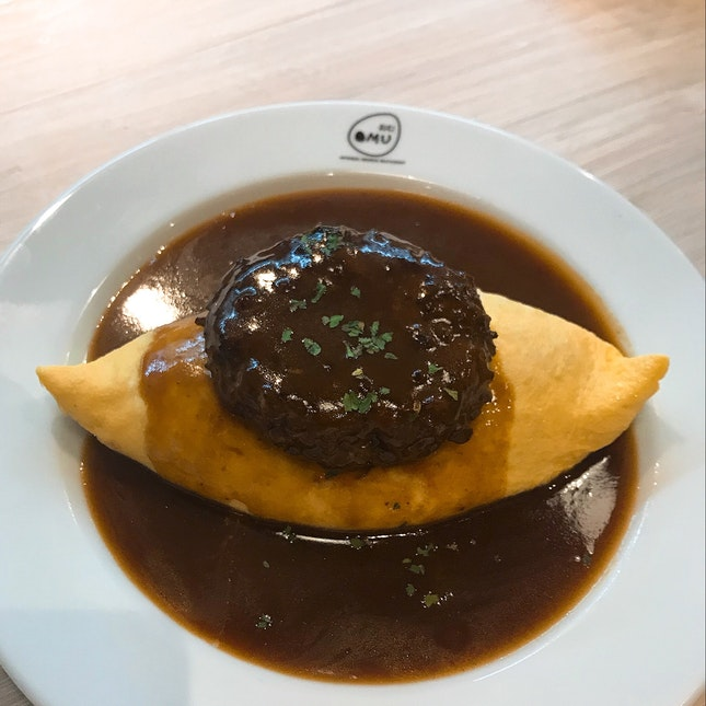 Demiglace Sauce Omurice With Burger ( Beef)