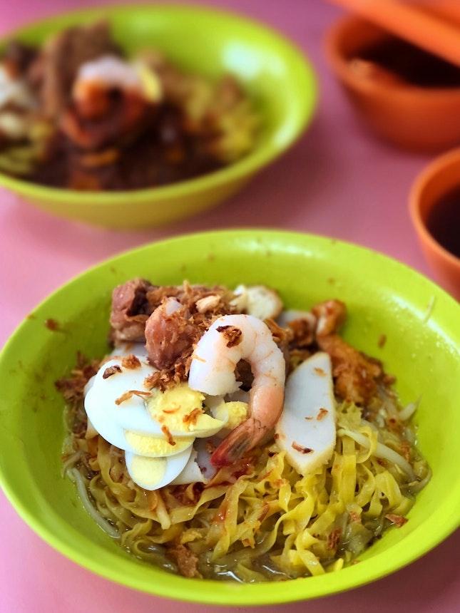 Prawn & Pork Ribs Noodles ($4)