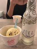 Rum Butterscotch & Salted Pecans with Mokai Elderflower Cider