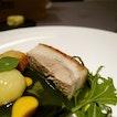 Crispy Roast Pork Belly at the 1 Michelin starred Restaurant Alma by Juan Amador 🇸🇬 .