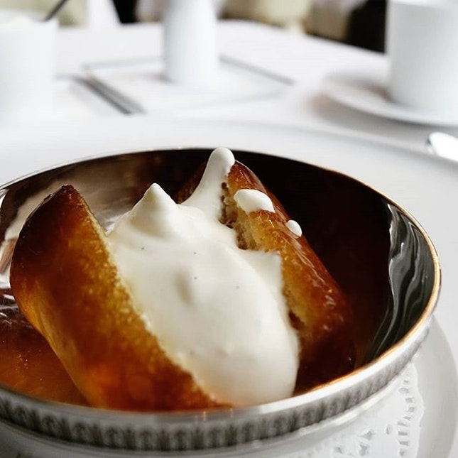 The new Rum Baba at Les Amis Restaurant Singapore.